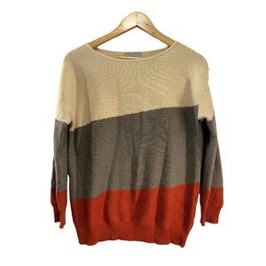 Evolution by Cyrus Tarley Color Block Sweater M